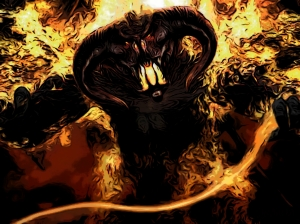 How my doubt demon looks like. I know, I know, it looks suspiciously like the Balrog...I think they might be related.